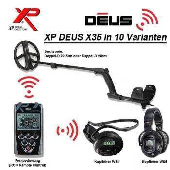 XP DEUS X35 V5.2 10 Varianten